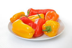 Multi-colored mini bell peppers Royalty Free Stock Photos