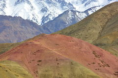 Multi-colored mountains in Himalayas Royalty Free Stock Photos
