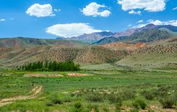 Multi-colored mountains of Tien Shan Royalty Free Stock Photo