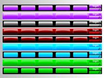 Multi colored navigation bars Stock Photos
