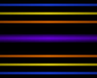 Multi Colored neon light lamp. straight horizontal lines Stock Photo