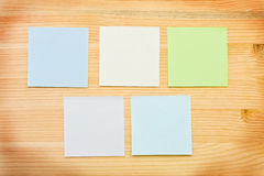 Multi-colored notes royalty free stock image
