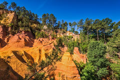 Multi-colored ocher outcrops Stock Images