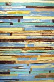 Multi-colored old wood background Stock Photo