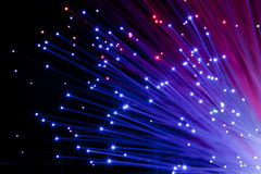 Multi colored optic fibers Royalty Free Stock Photo