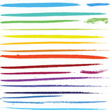 Multi colored paint art brushes Royalty Free Stock Photography