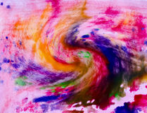 Multi-colored paints Stock Photo