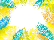 Multi-colored palm leaves Royalty Free Stock Images