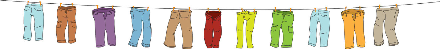 Multi-colored pants Royalty Free Stock Images