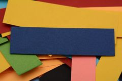 Multi Colored Paper Cards with Copyspace Stock Image