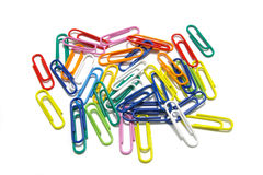 Free Multi-colored Paper Clips Stock Photo - 4536500