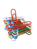 Multi-colored paper clips compozition Royalty Free Stock Photography