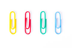 Multi Colored Paper Clips Stock Images