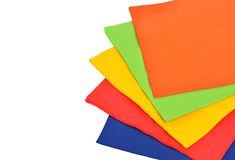 Multi-colored paper napkins Royalty Free Stock Photo