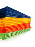 Multi-colored paper napkins Stock Photos