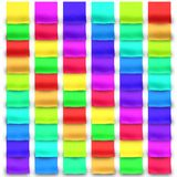 Multi-colored paper stickers Royalty Free Stock Photography