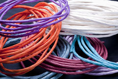 Multi colored papre twists. Royalty Free Stock Photography