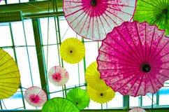 Multi-colored paraply. Royaltyfri Foto