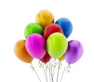 Multi colored party balloons Royalty Free Stock Photos