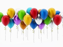 Multi colored party balloons stock illustration