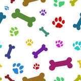 Multi colored paw pattern Stock Images