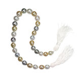 Multi colored pearl Necklace with tassels Stock Photography