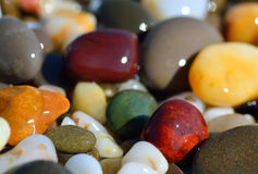Multi-colored pebbles Royalty Free Stock Images