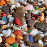 Multi-colored pebbles Stock Photography