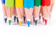 Multi Colored Pencil Stock Photo