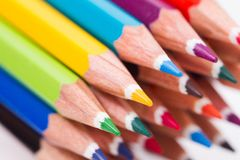 Multi Colored Pencil Stock Photos