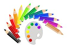 Multi Colored Pencil Royalty Free Stock Images