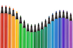 Multi-colored pencil border Royalty Free Stock Image