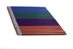 Multi-Colored Pencils Stock Images
