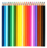 Multi Colored Pencils. On white background Stock Photo
