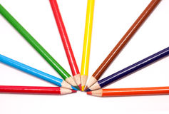 Multi colored pencils. Royalty Free Stock Photos