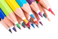 Multi Colored Pencils Royalty Free Stock Photos