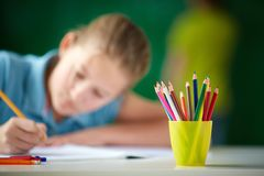 Multi-colored pencils Royalty Free Stock Photo