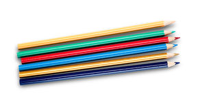 Multi-colored pencils isolated on white Stock Image