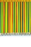 Multi-colored pencils Stock Photos