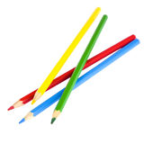 Multi colored pencils on a white background Stock Photography