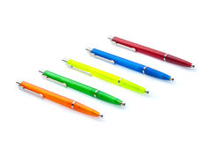 Multi-colored pens. Royalty Free Stock Photography