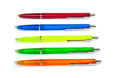 Multi-colored pens. Stock Photography