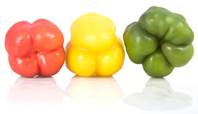 Multi-colored peppers Stock Photo