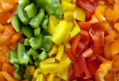 Multi Colored Peppers (Background) Royalty Free Stock Image
