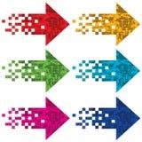 Multi-colored pijlen om te wijzen op. Royalty-vrije Stock Afbeelding