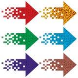 Multi-colored pijlen om te wijzen op. Royalty-vrije Stock Foto's
