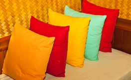 Multi-colored pillows. Stock Images