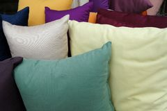 Multi-colored pillows royalty free stock photo