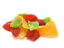 Multi-colored plakken van vruchten stock fotografie
