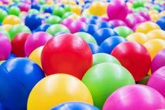 Multi-colored plastic balls Stock Photos